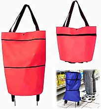 2 in 1 Foldable Shopping Cart,Shopping Bag on