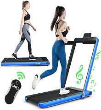 2 in 1 Folding Treadmill Electric Walking Running