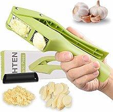 2-in-1 Garlic Press Garlic Slicer and Shredder,