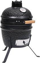 2-in-1 Kamado Barbecue Grill Smoker Ceramic 56 cm