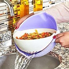 2 in 1 Multi Kitchen Strainer Bowl Sets, Plastic