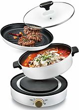 2 in 1 Multifuction Home Electric BBQ and 6L Hot
