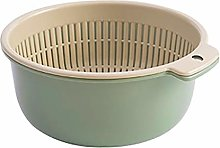 2 in 1 Multipurpose Kitchen Strainer Plastic Bowl