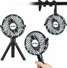 2 in 1 Stroller Fan, Portable Handheld Fan Desk