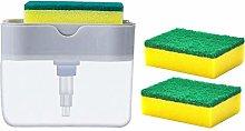 2-in-1Sponge Rack Soap Dispenser Soap Dispenser