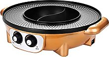 2 In1 Electric Smokeless Grill And Hot Pot, Indoor