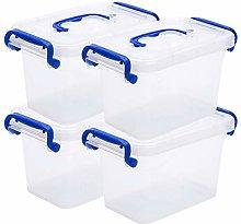 2 L Small Storage Box, Clear Storage Latch Bin