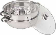 2-Layer Steamer Pot, Stainless Steel Food Steamer