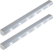 2 LED light strips with motion detector - grey