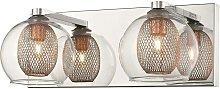 2 Light Indoor Wall Light Mesh Chrome, Copper, G9