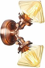 2-Light Wall Lamps, Creative Glass Lampshade,