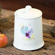2 Litre Floral Ceramic Biscuit Barrel