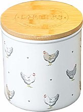 2 Litre Round Farmers Chickens Biscuit Barrel Food