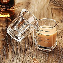 2 Oz Glasses Espresso Shot Double Measuring Cup