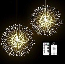 2 Pack 150 LED Firework Fairy String Lights, 8