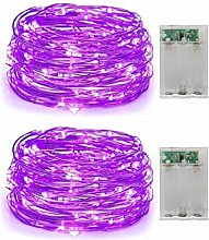 2 Pack Battery Operated Mini Led Fairy Lights with