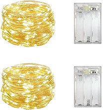 2 Pack Battery Operated Mini Led Lights,Indoor