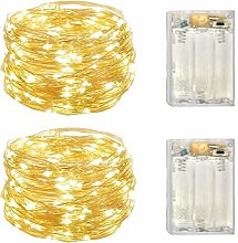 2 Pack Battery Operated Mini Lights,Indoor Led