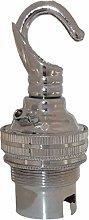 (2 Pack) Bayonet Cap (B22) Lamp Holder in Silver