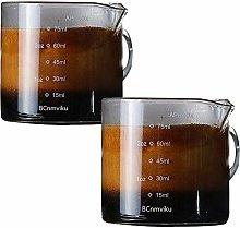 2 Pack BCnmviku Measuring Cups Shot Glasses