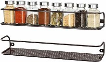 2 Pack Big Size Wall Mount Tier Spice Rack,Nail