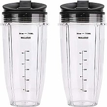 2 Pack Blender 24 oz Cups with Sip & Seal Lid