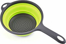 2 Pack Collapsible Food Colander with Handle