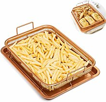 2 Pack Copper Baking Tray Air Fryer - Deluxe