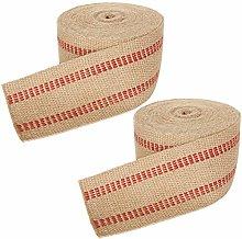2 Pack Craft Jute Webbing Stretcher, Burlap Fabric