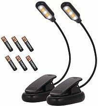 (2 Pack) Fulighture Reading Light 5 LED, 3