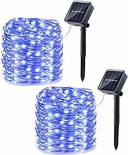 [2 Pack] KEEDA Solar Fairy Lights Outdoor, 100 LED