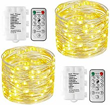 [2 Pack]Koopower 39ft 100 LEDs Battery Operated