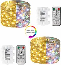 [2 Pack] Koopower Battery Operated Fairy Lights,