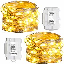 [2 Pack]Koopower Fairy Lights Battery Operated, 5m