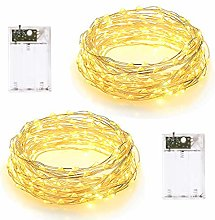 (2 Pack) LED Fairy String Lights 10M, 2 Lighting