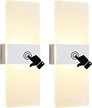 2 Pack LED Interior Wall Lights with Touch Switch