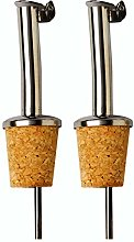 2 Pack : Oil Pourer : Stainless Steel Spout : Cork