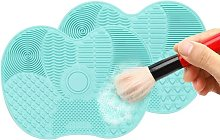2 Pack Portable Silicon Makeup Brush Cleaning Mat,