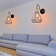 2 Pack Retro chandelier Diamond Decorative Hanging