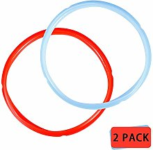 2 Pack Silicone Sealing Rings, Red, Blue, White