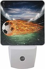 2 Pack Soccer Ball of Fire at The Stadium Led