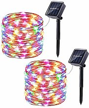 2 Pack Solar Copper String Lights,KINGCOO 33ft