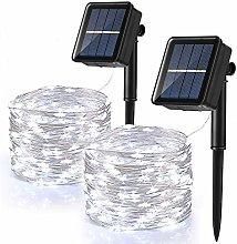 [2 Pack] Solar Fairy Lights Outdoor, BrizLabs