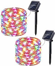 2 Pack Solar Fairy Lights Outdoor, Joomer 33ft/10m