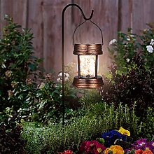 2 Pack Solar Lanterns - Outdoor Hanging Solar