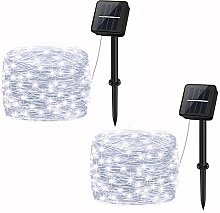 2 Pack Solar String Lights Outdoor, cshare 16.4Ft