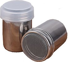 2 Pack Stainless Steel Chocolate Shaker with Lid
