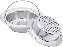 2 Pack Upgrade Kitchen Sink Strainer with Handle,