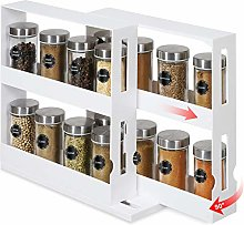 2 Pack Upgraded Rotating Spice Racks, Free