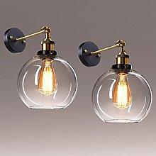 2 Pack Vintage Glass Wall Light - Frideko